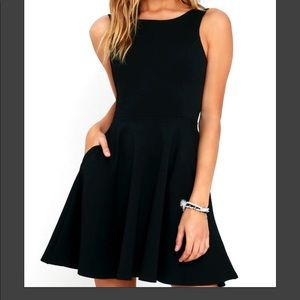 black lulus skater dress